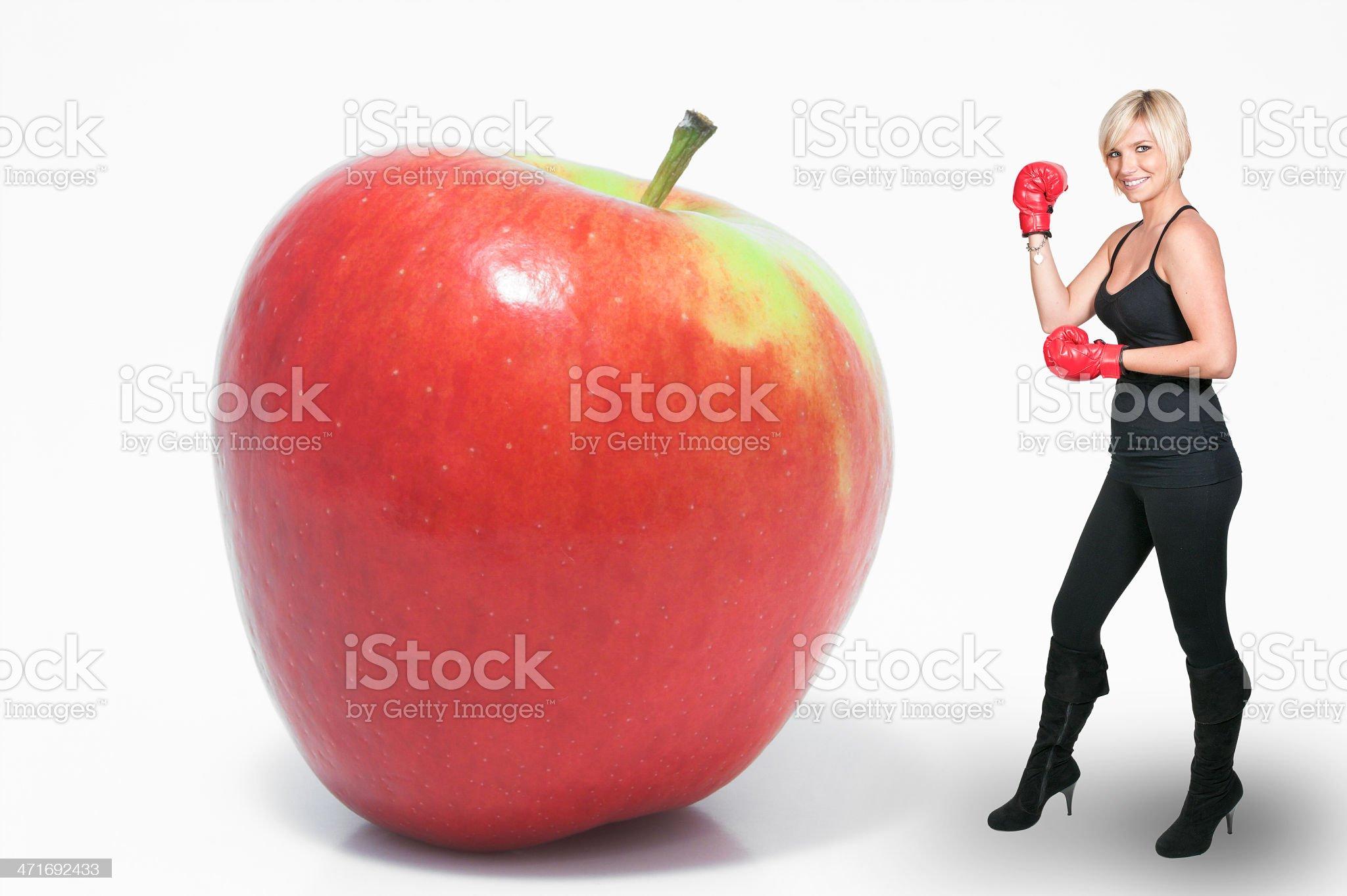 Boxing Apple royalty-free stock photo