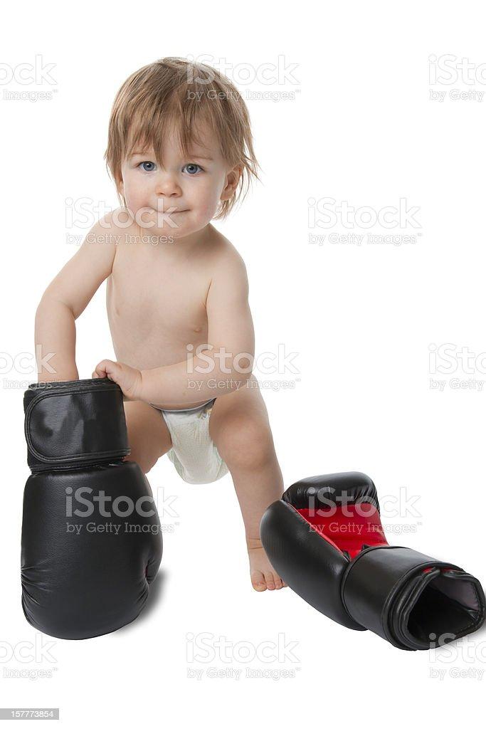 Boxing Baby royalty-free stock photo
