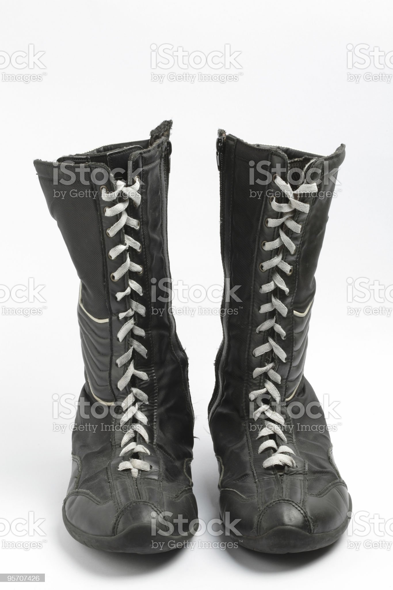 Boxing boots, isolated royalty-free stock photo