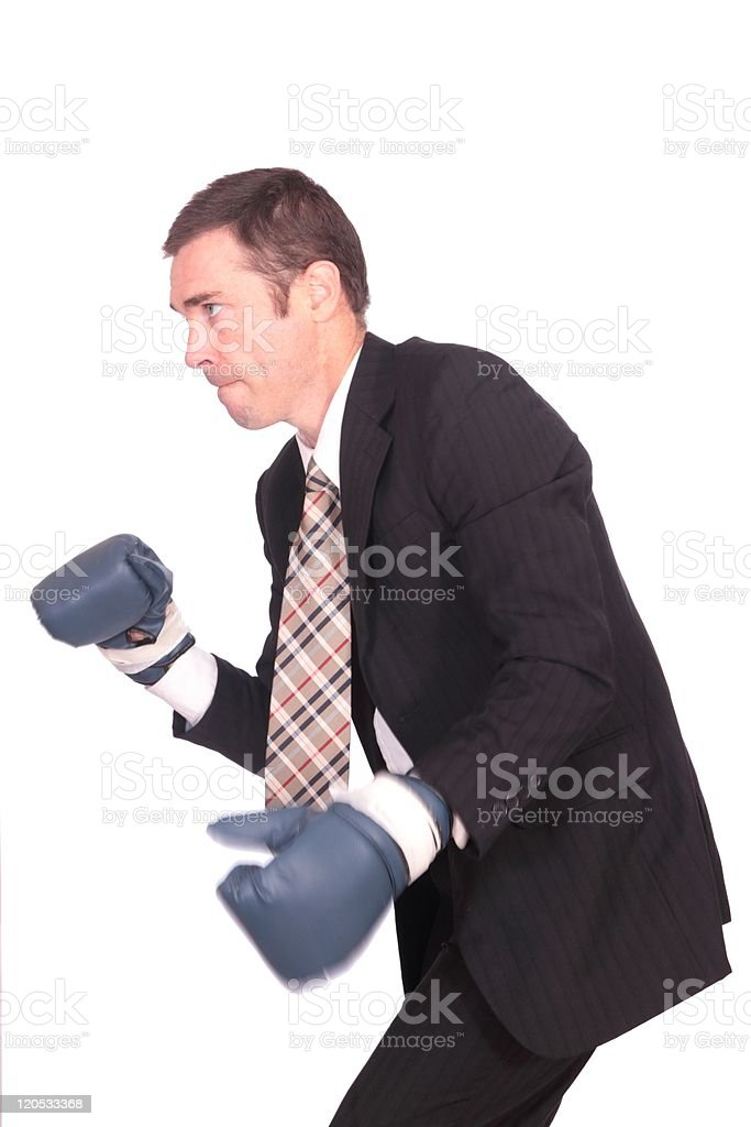 boxing business man stock photo