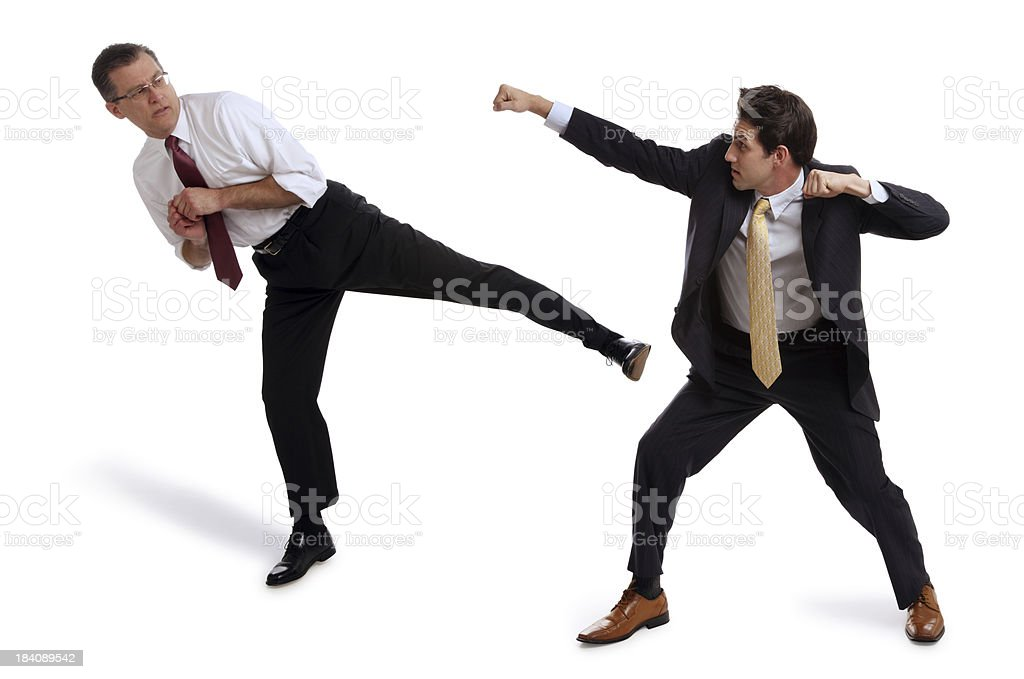 Boxing Business Men on White royalty-free stock photo