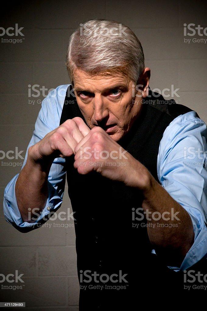 boxing businessman royalty-free stock photo