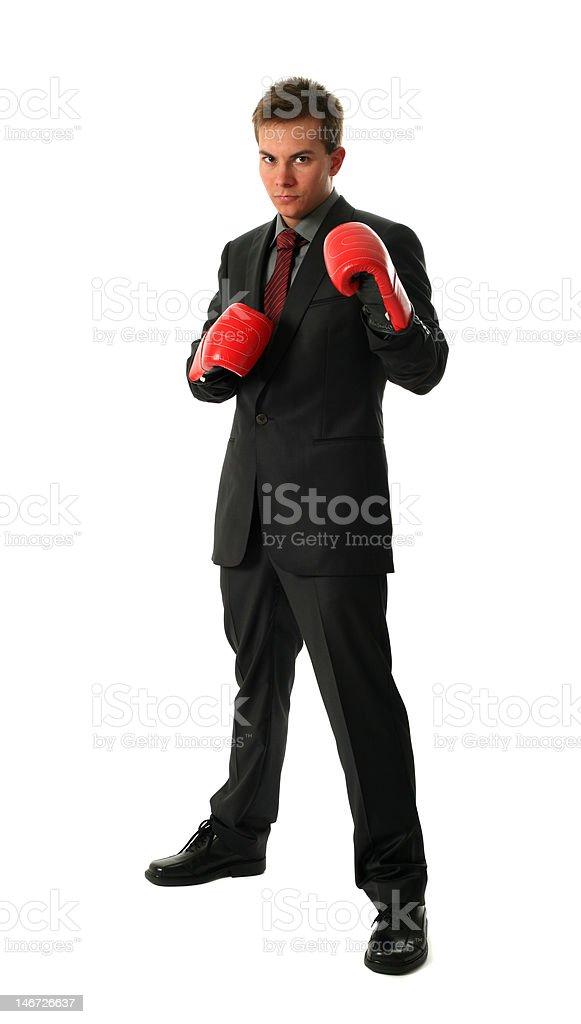 Boxing Businessmen royalty-free stock photo