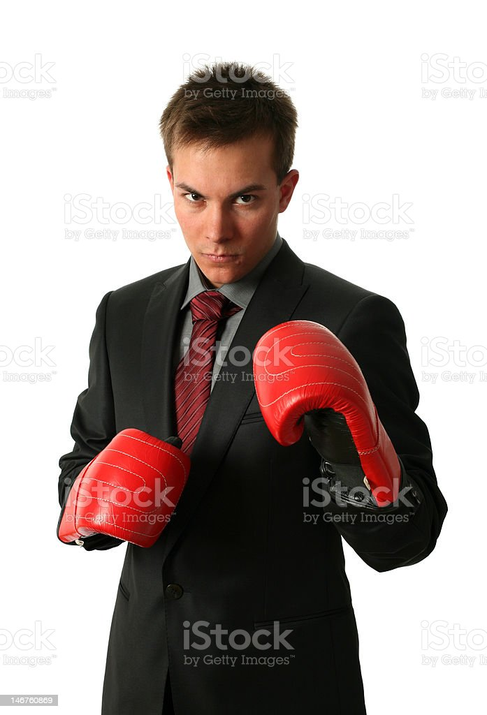 Boxing Businessmen royalty-free stock photo