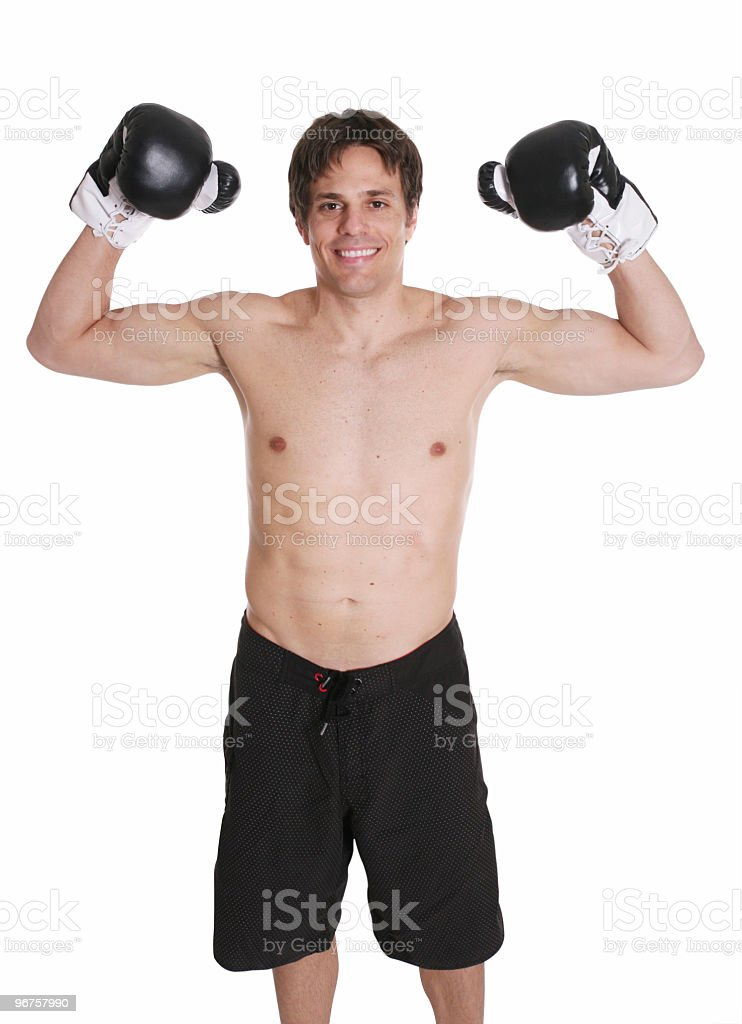 Boxing champ royalty-free stock photo