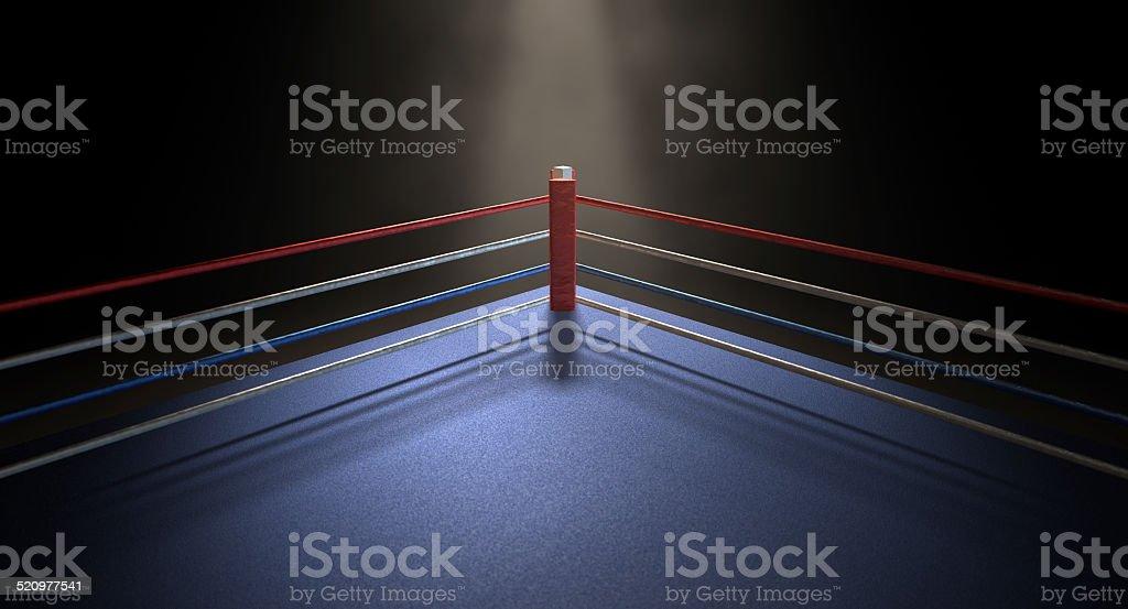 Boxing Corner Spotlit Dark stock photo