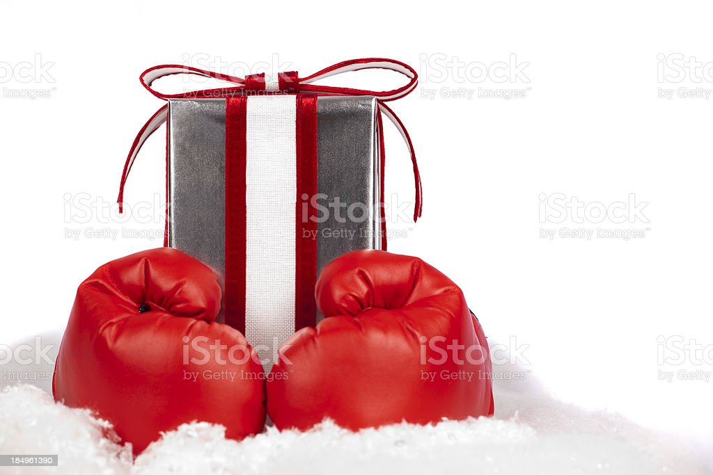 Boxing day gift royalty-free stock photo