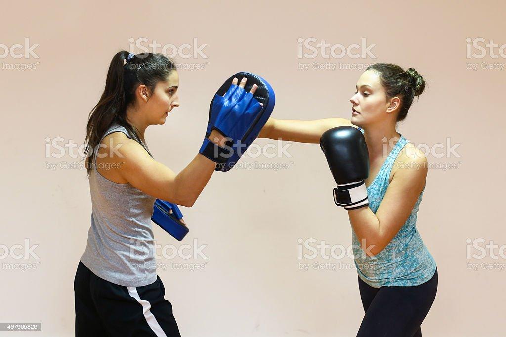 Boxing exercise stock photo