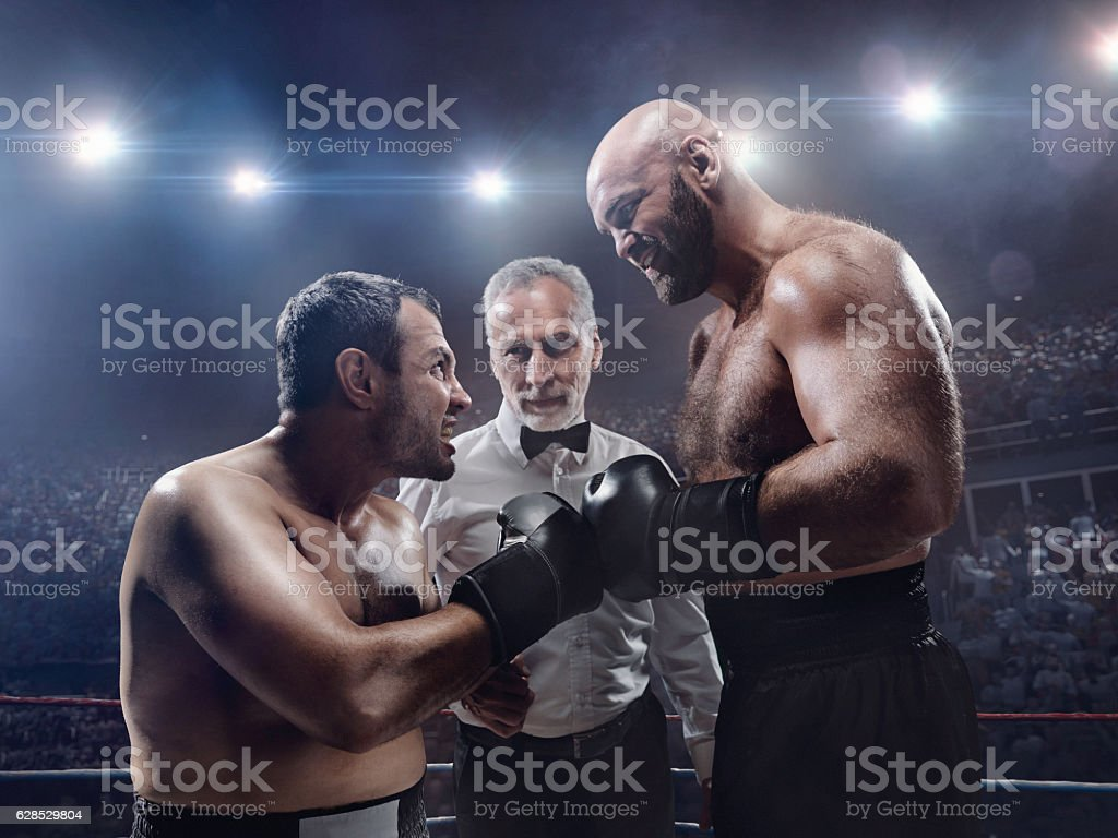 Boxing: Face to face stock photo