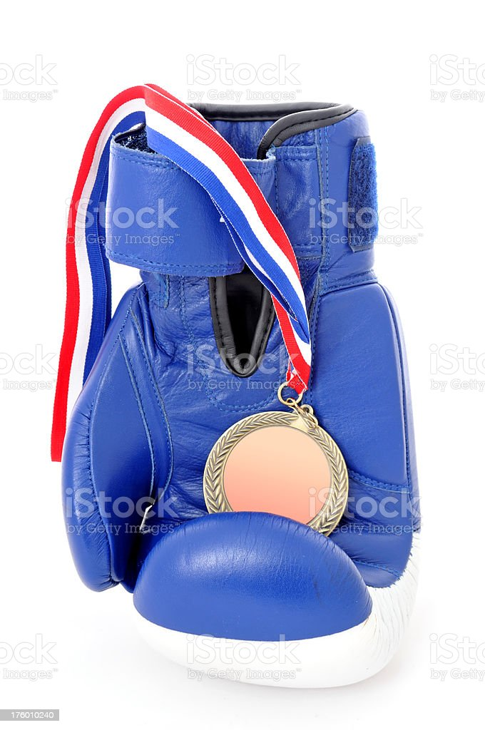 boxing glove and medal royalty-free stock photo