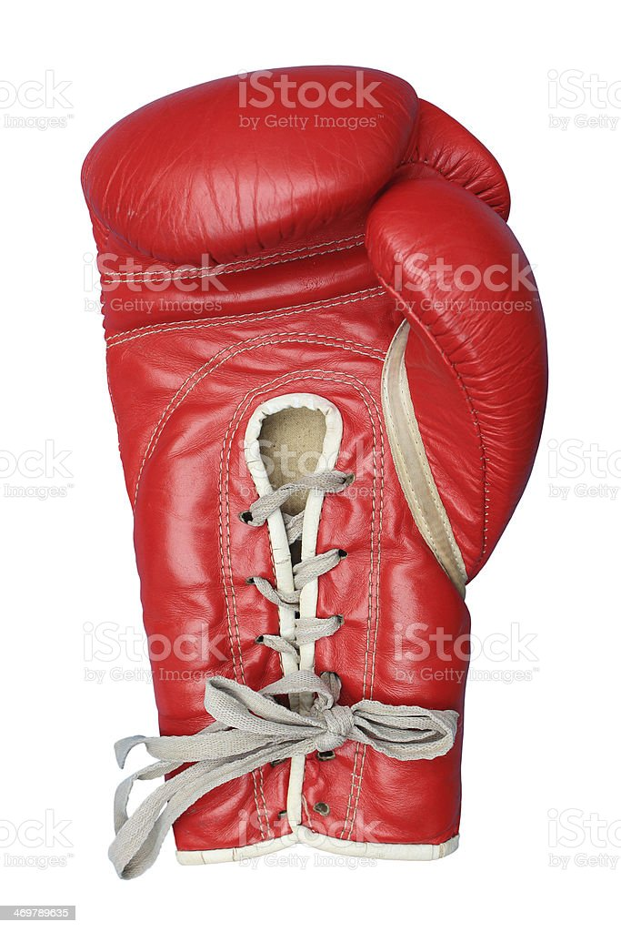 Boxing glove isolated on white stock photo