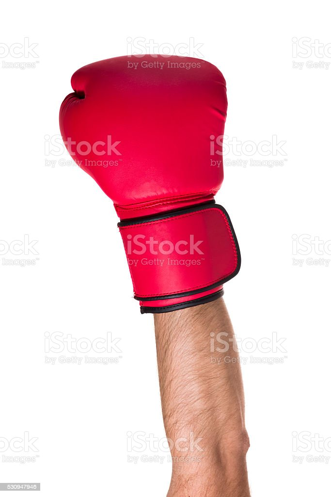 Boxing glove on a white background stock photo