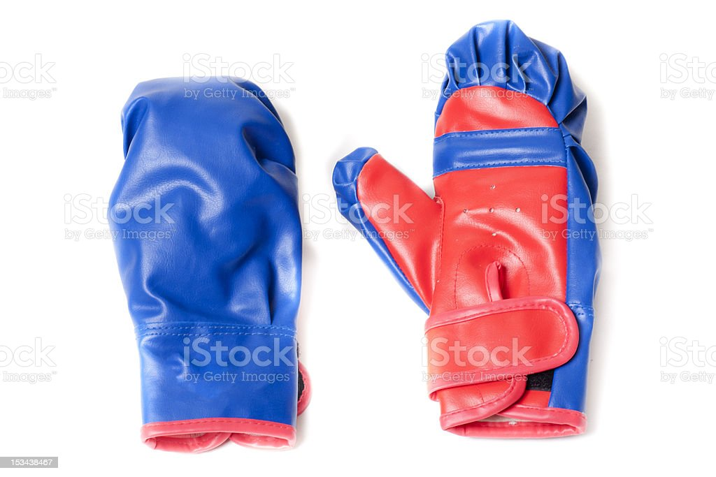 boxing gloves blue royalty-free stock photo