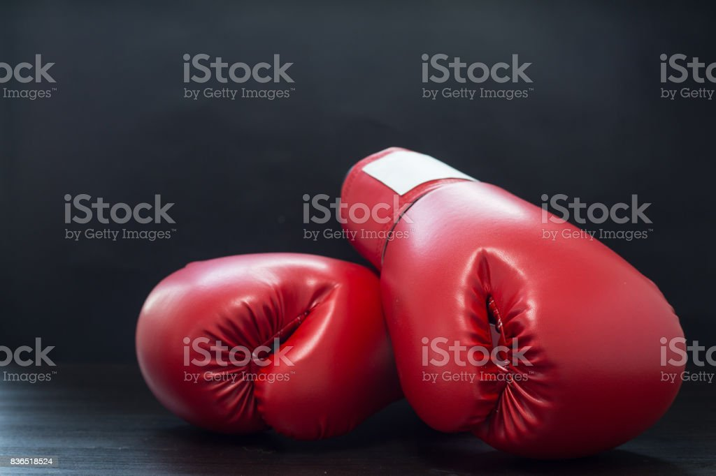 Boxing gloves for boxer stock photo