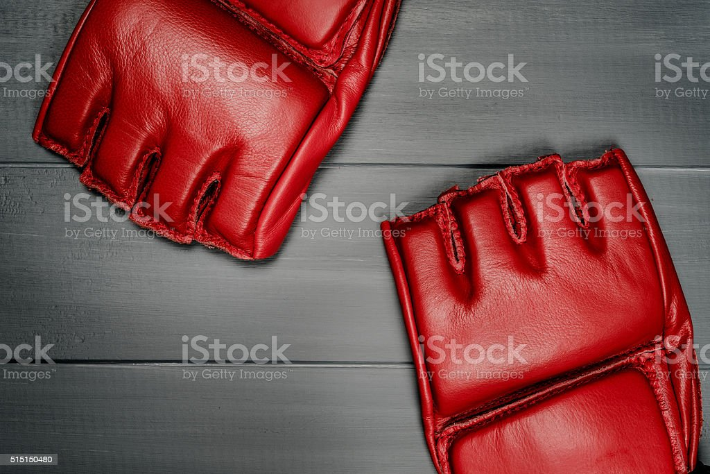 boxing gloves for training stock photo