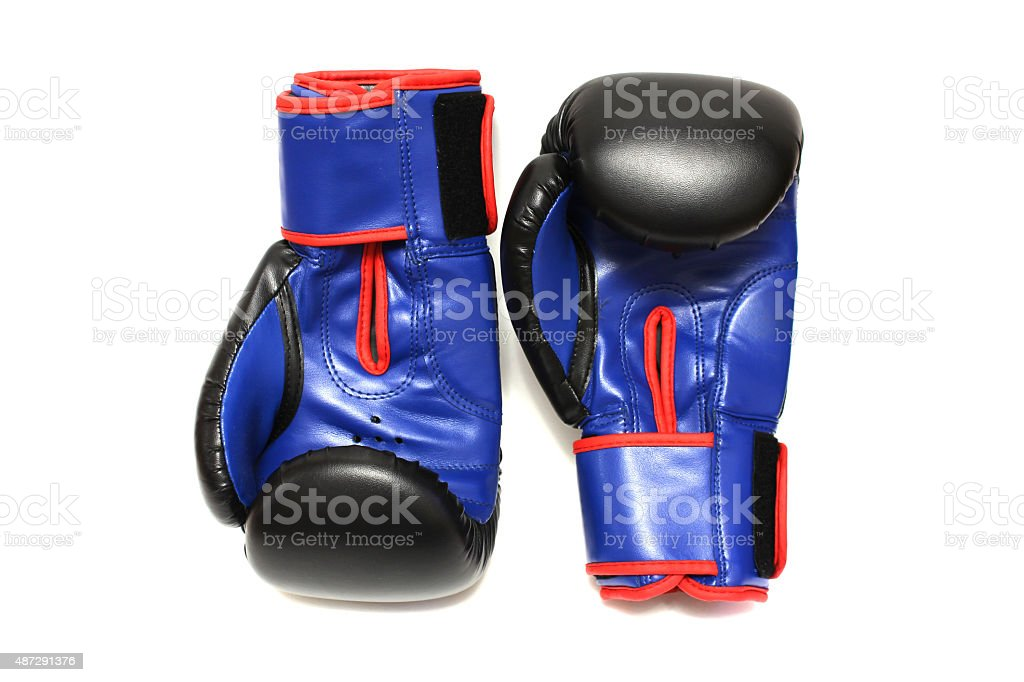 Boxing gloves on a white background