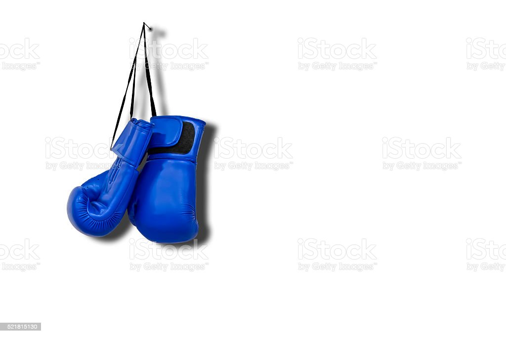 Boxing Gloves on White Isolated Background stock photo