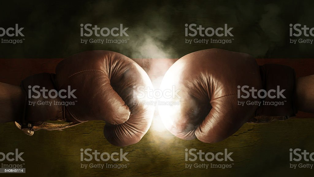 Boxing Gloves with the Flag of Germany stock photo