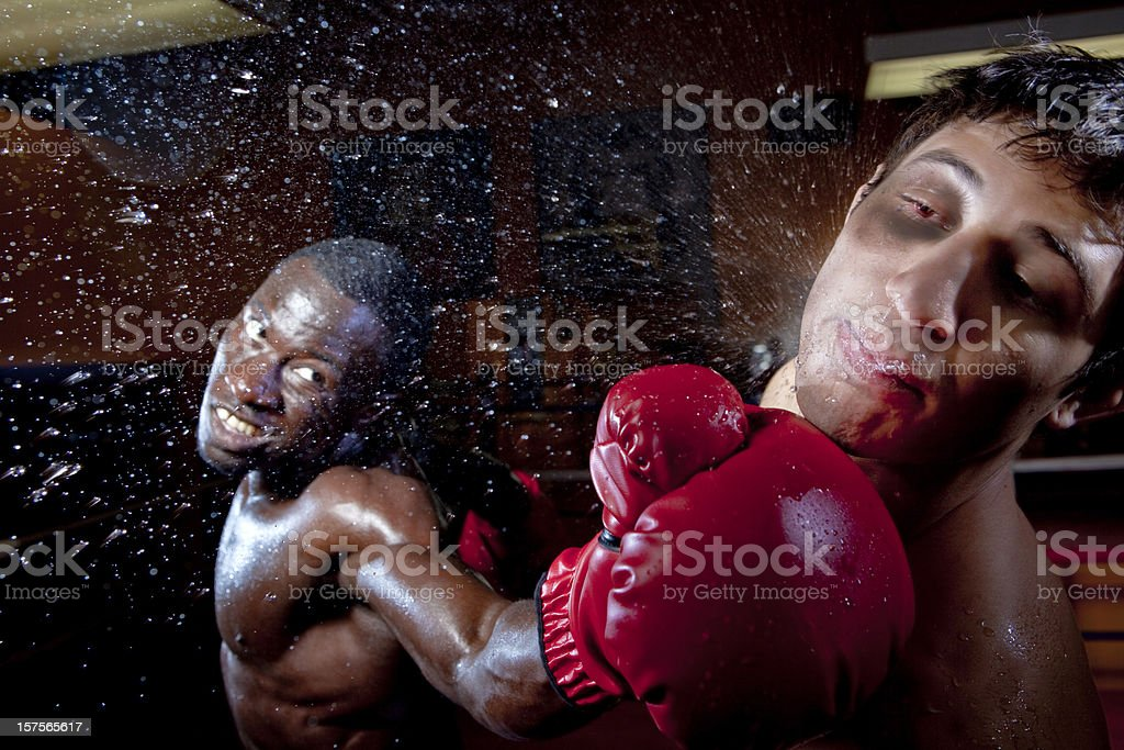 Boxing knock out stock photo