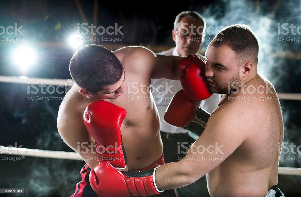 Boxing match. stock photo
