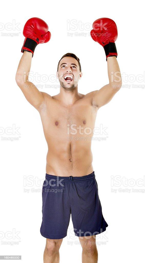 boxing or kick boxer success royalty-free stock photo