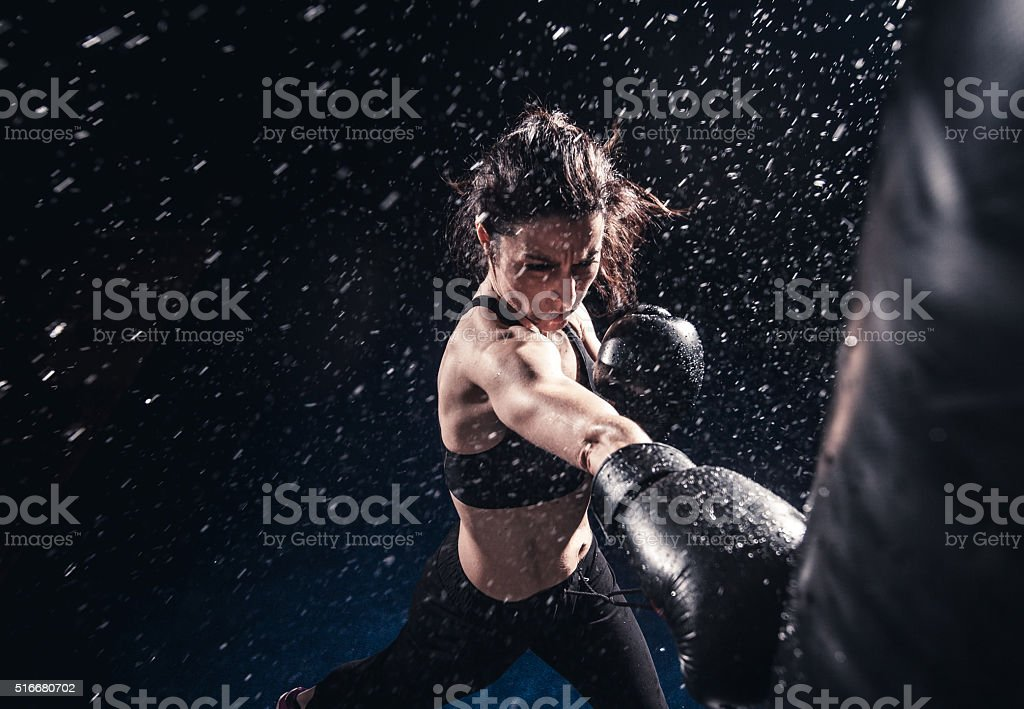 Boxing power stock photo
