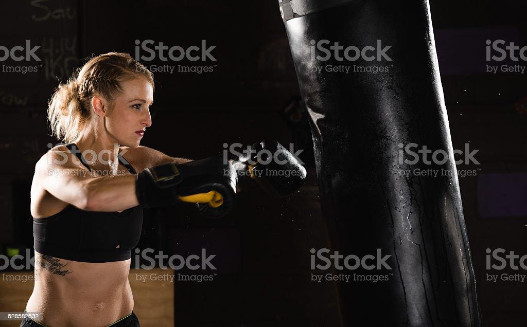 Boxing punch stock photo