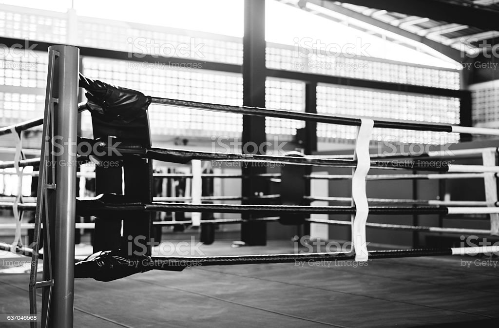 Boxing RIng Arena Stadium Fighting Competitive Sport Concept stock photo