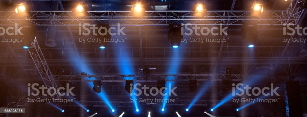 Boxing ring before the event Boxing Championship. stock photo