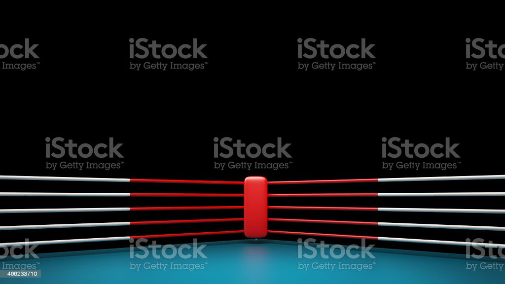 Boxing ring isolated on black background High resolution 3d render stock photo