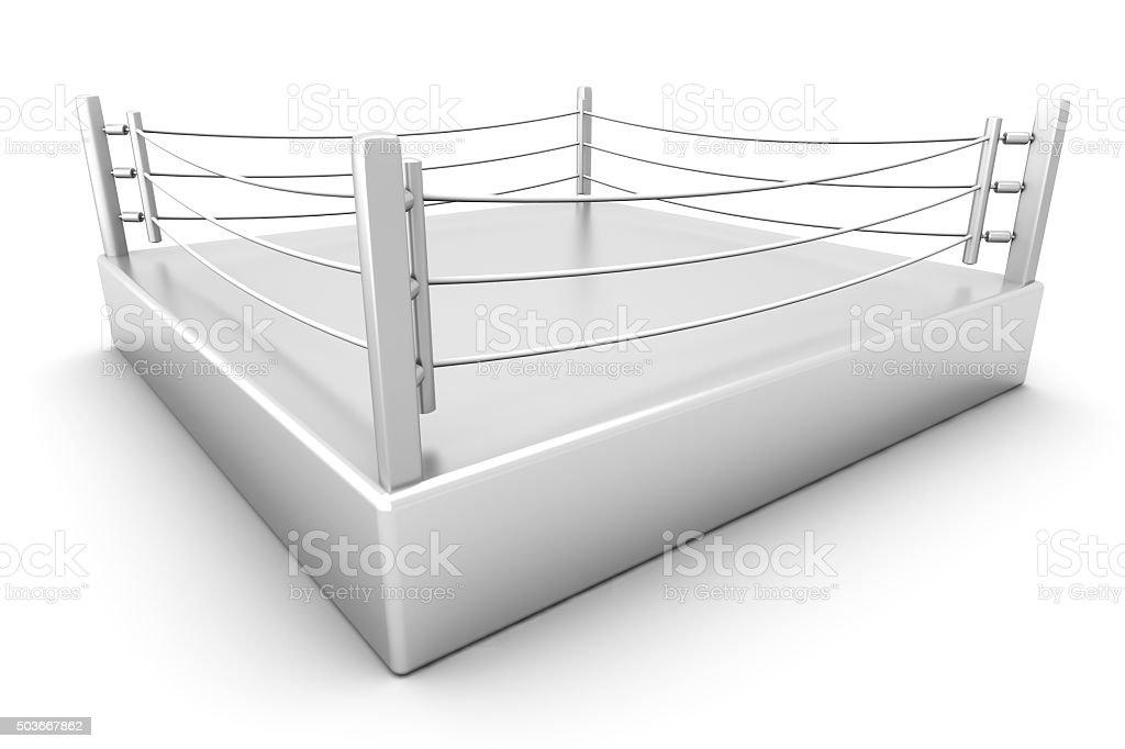 Boxing ring stock photo
