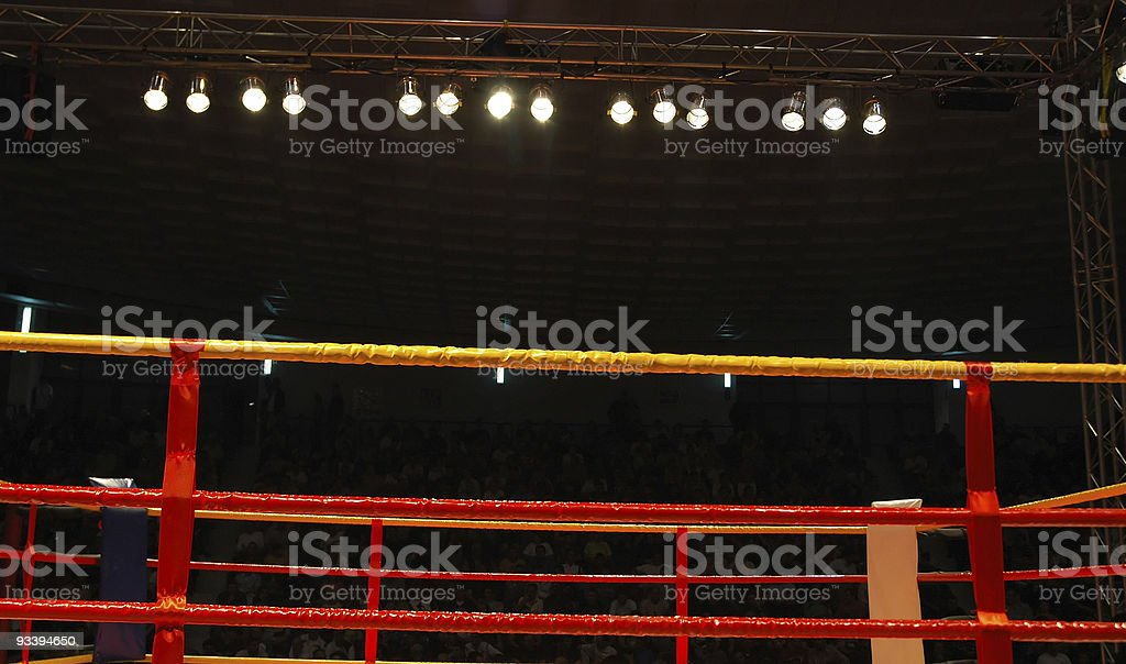 Boxing ring royalty-free stock photo