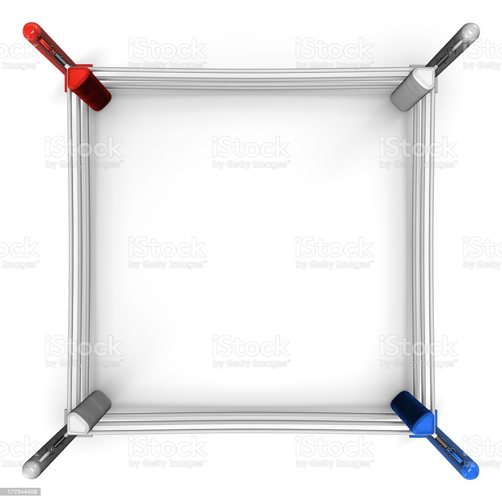 Boxing Ring Top View stock photo