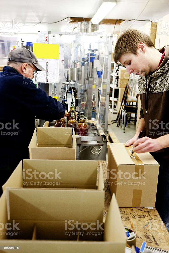 Boxing scrumpy cider royalty-free stock photo