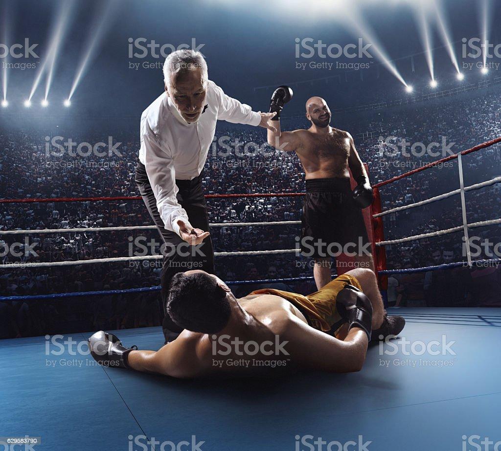 Boxing: Winner boxer stock photo
