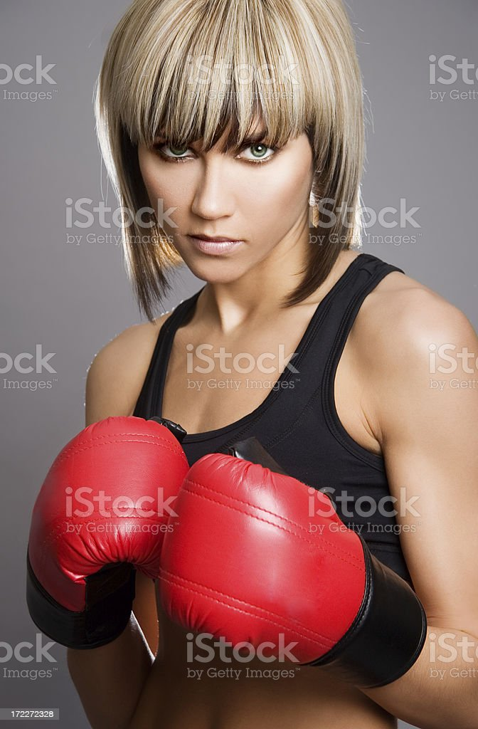 boxing woman royalty-free stock photo