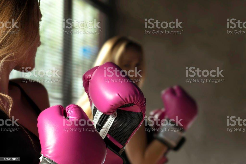 Boxing Woman stock photo