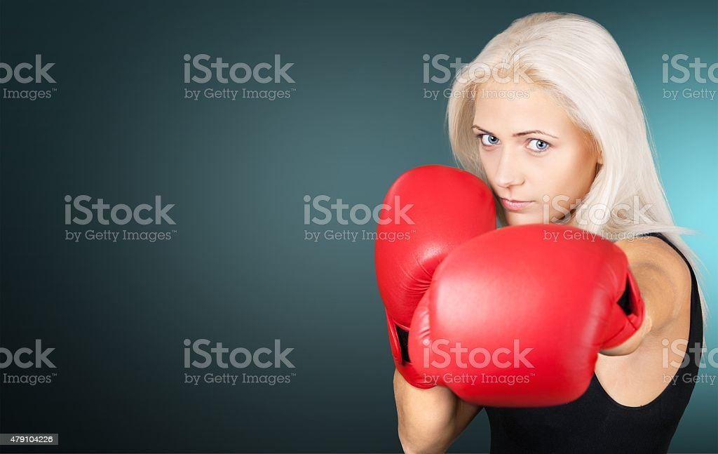 Boxing, Women, Kickboxing stock photo
