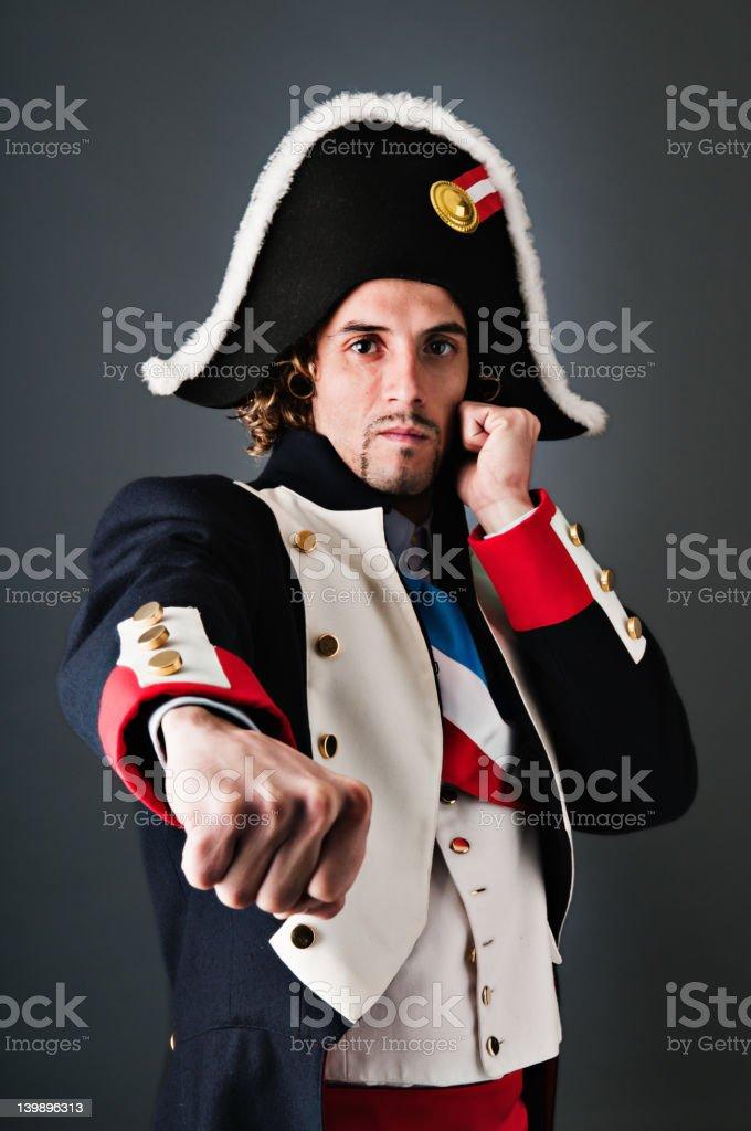 Boxing Young Napoleon Bonaparte stock photo