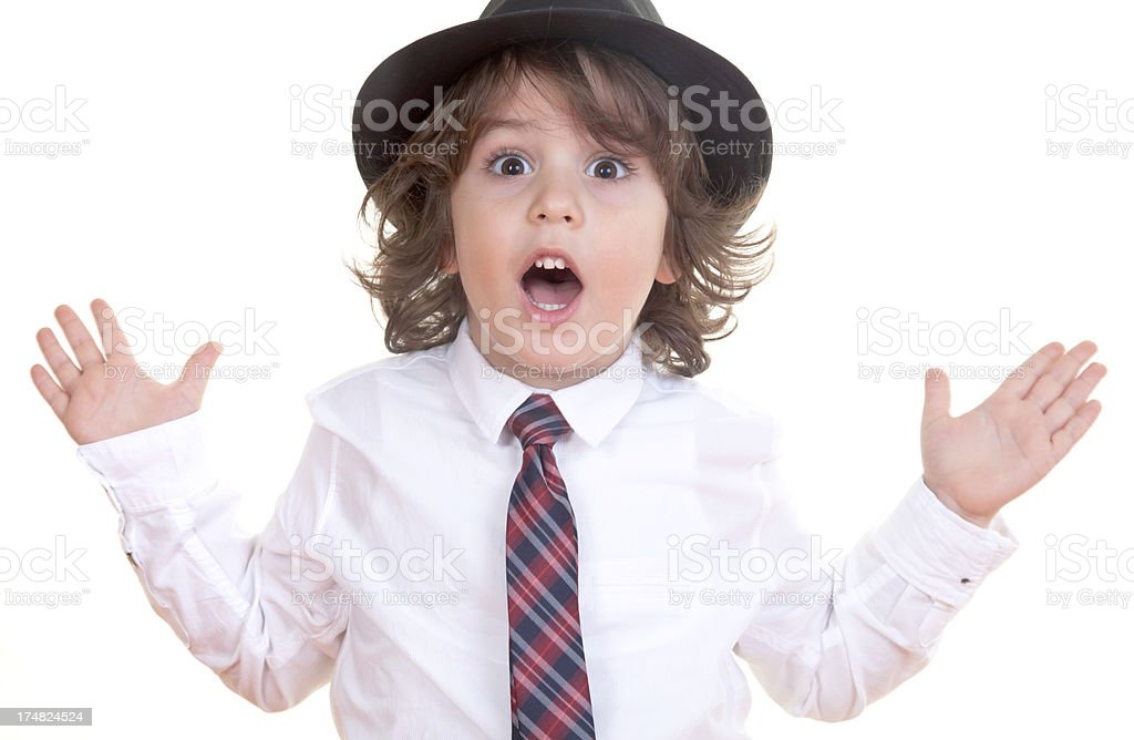 Boy amazing royalty-free stock photo
