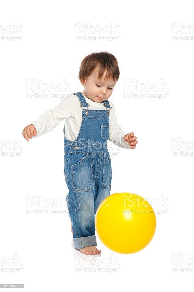 Boy and ball stock photo