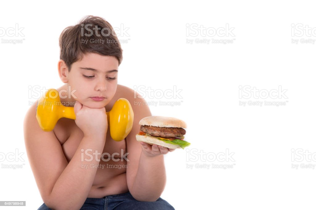 Boy and diet stock photo
