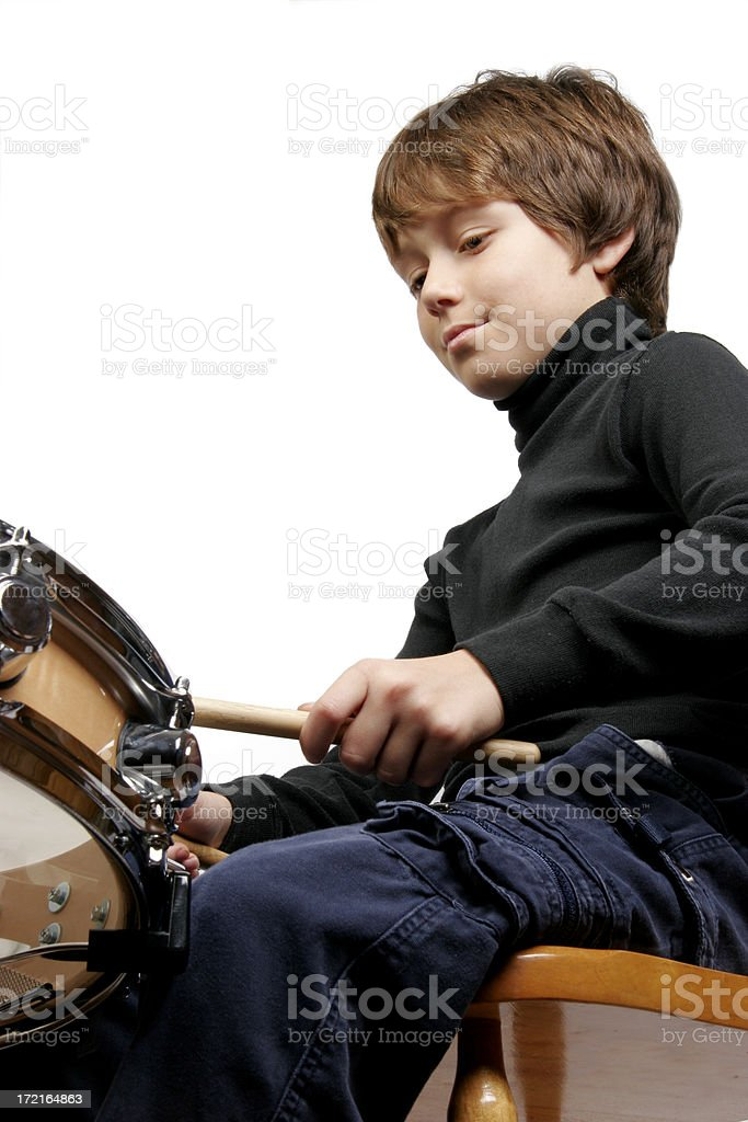 Boy and Drum 3 stock photo
