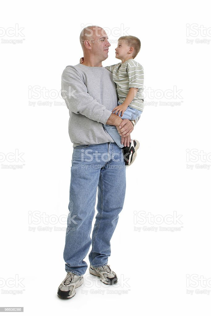 Boy and Father in Casual royalty-free stock photo