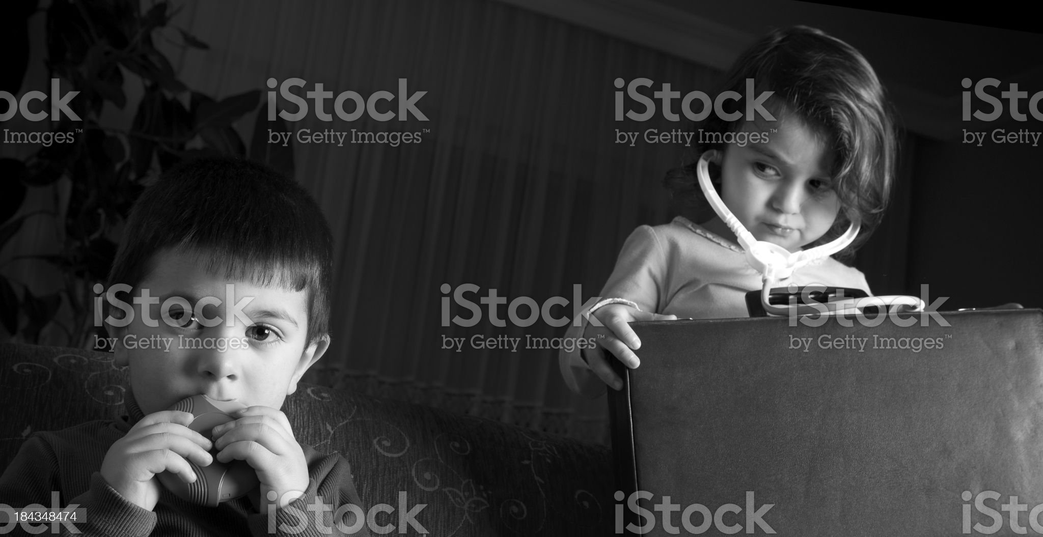 Boy and girl. royalty-free stock photo