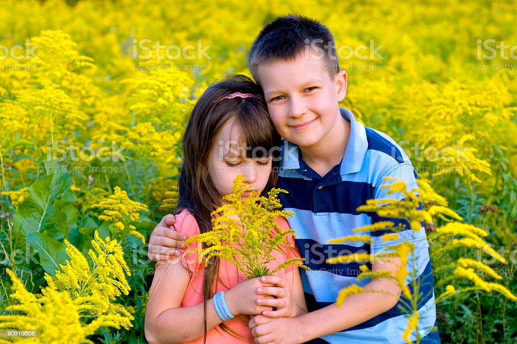 boy and girl royalty-free stock photo
