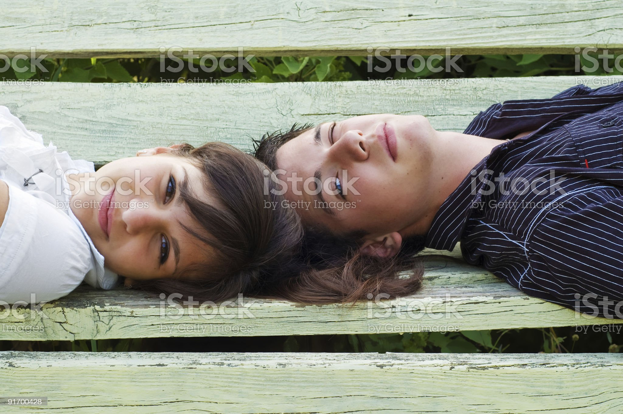 boy and  girl smiling royalty-free stock photo