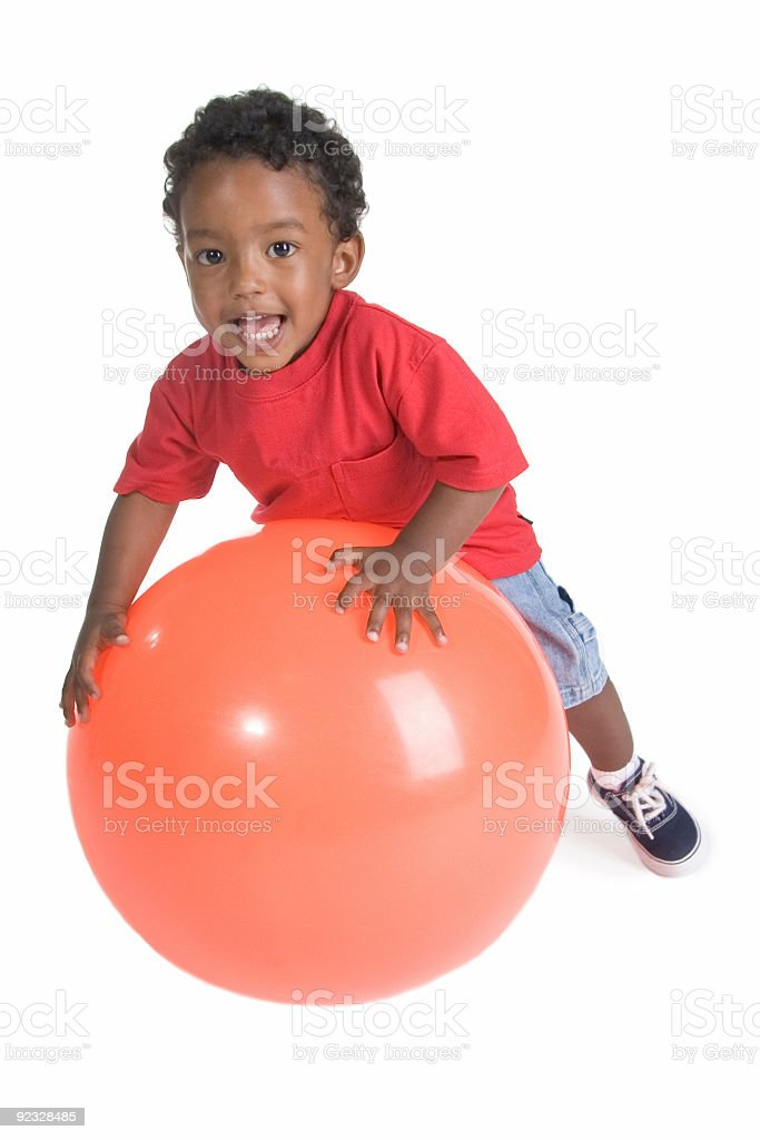 boy and the ball royalty-free stock photo