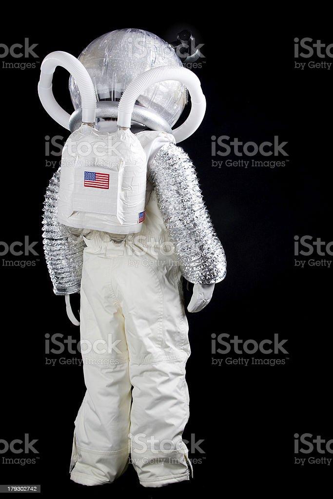 Boy Astronaut Looking Away stock photo