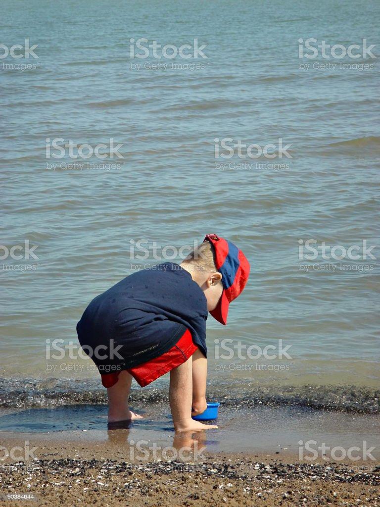 Boy at Beach royalty-free stock photo